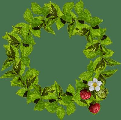 _cadre cercle vert décoration plantes fruits feuille-tube