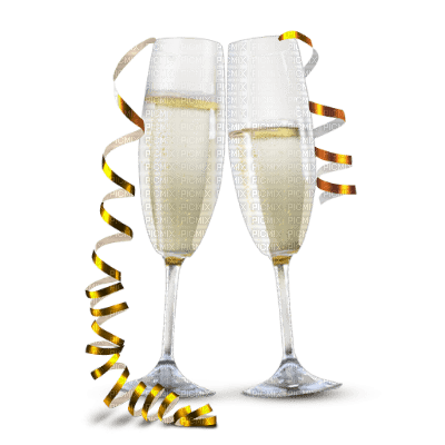 Champagne-glasses-new year-deco