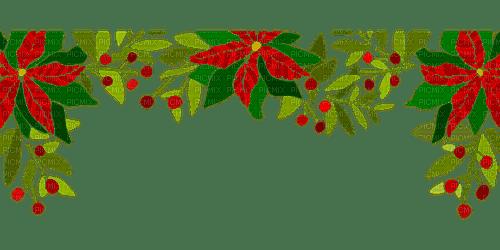 christmas flower border noel fleur bordure