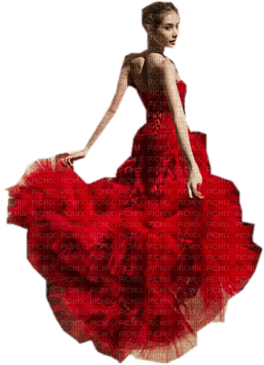 femme rouge woman red  dress