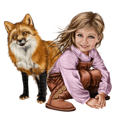 Kaz_Creations Baby Enfant Child Girl Fox