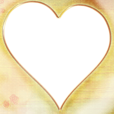 orange heart frame transparent coeur cadre