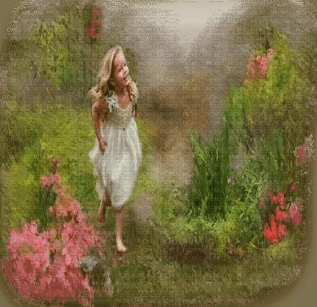 child girl summer garden enfant êtê jardin