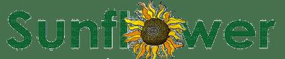 sunflower text green  vert