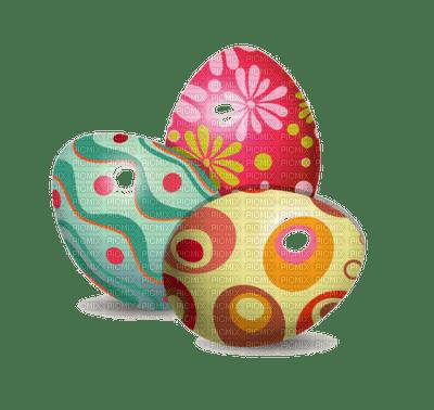 3 oeufs de Paques décorés