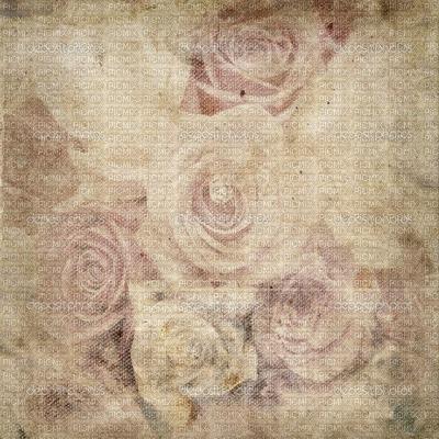 VINTAGE FLORAL ROSES BG BEIGE  fond fleur