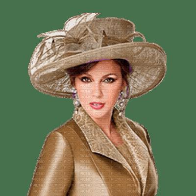 kvinna- hatt-beige