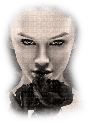 femme deco fond visage face