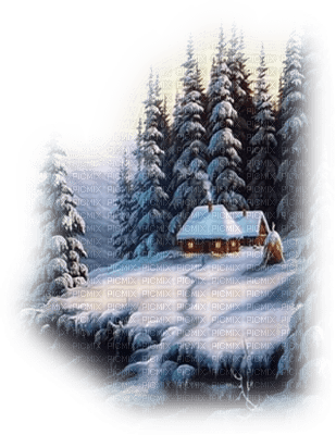 WINTER HOUSE LANDSCAPE HIVER PAYSAGE MAISON