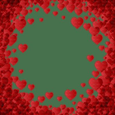 HEARTS FRAME RED VALENTINE cadre coeur valentine
