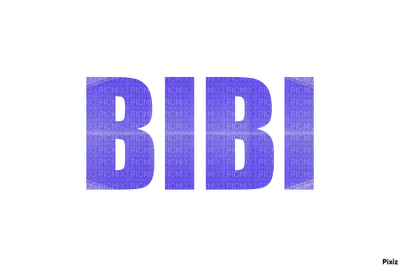 Signature Bibi, bleue,