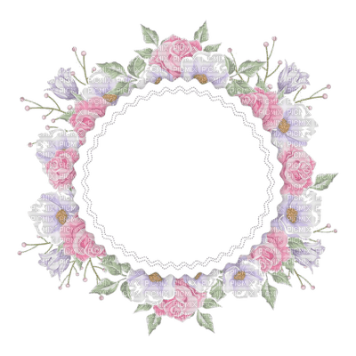 flower frame circle cadre cercle fleur