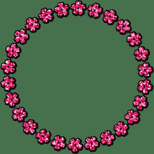 Circle.Flowers.Frame.Pink