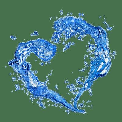water eau coeur bleu