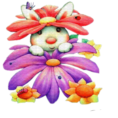 easter bunny flower lapin pâques fleur
