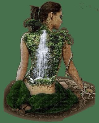 waterfall woman fANTASY femme cascade