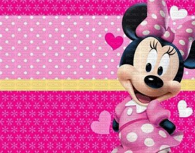 image encre bon anniversaire coeur  à pois  Minnie Disney edited by me