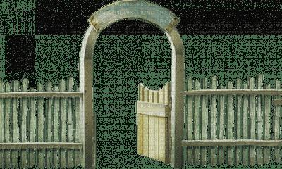 Kaz_Creations Garden Fence Gate