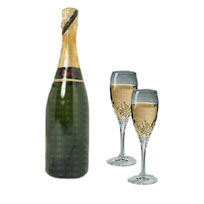 champagne-happy Birthday-joyeux anniversaire-cup-glasses-BlueDREAM70
