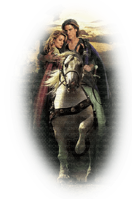 homme femme cheval  man woman horse