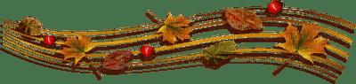 automne feuilles deco autumn leaves deco border