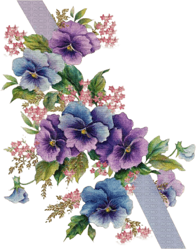 Ribbon of Pansys Joyful226 Connie