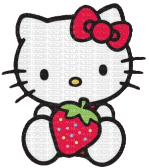 Hello kitty fraise 🍓 strawberry red rouge