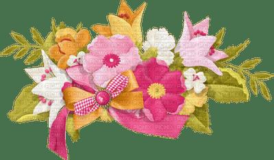 Fleurs et ruban