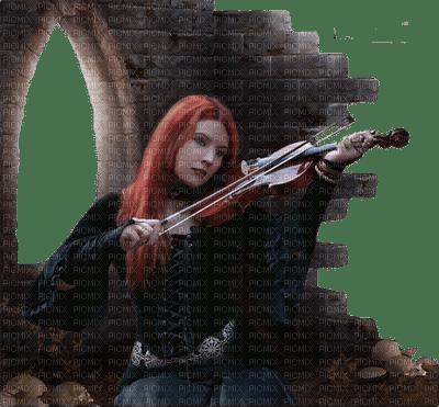 femme violin goth
