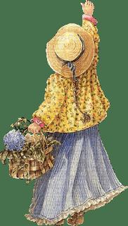 fillette child flowers vintage