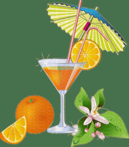 summer orange cocktail drink