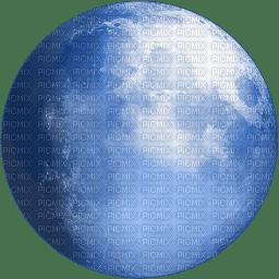 Lune  bleu blue moon transparent