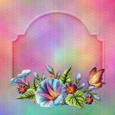 image encre couleur effet cadre bon anniversaire fleurs texture papillon mariage arc en ciel edited by me