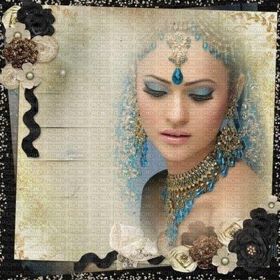image encre couleur femme visage fleurs Inde mariage edited by me
