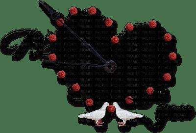 Red Deco Clock