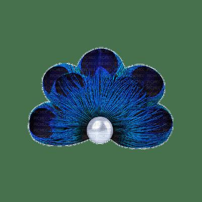 vintage deco pearls effect blue tube perle