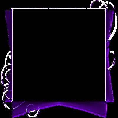 violet cadre fame transparent purple