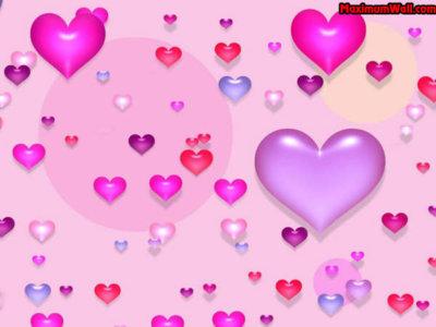 fond coeur rose