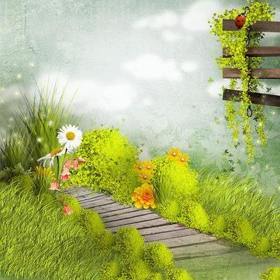 paysage printemps été landscape spring   background  fond  tube _garden
