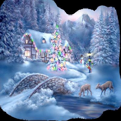 winter house christmas maison hiver noel