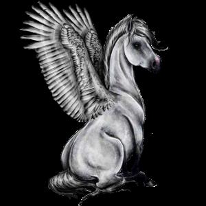Cheval ailé gris : )