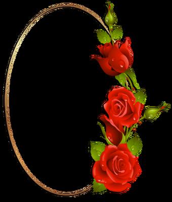 cader oval & rose rouges