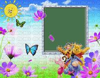 image encre paysage la nature soleil fleurs papillon  Disney effet printemps edited by me