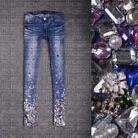 fond  de jeans Pelageya