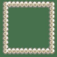 pearls frame white