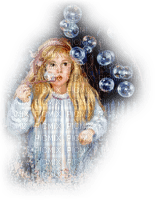 child girl soup bubbles enfant boules de savon