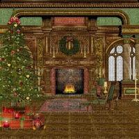 room raum  chambre  habitación zimmer window fenster fenêtre  image fond background christmas noel xmas weihnachten Navidad рождество natal tree fireplace vintage
