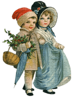 enfants hiver vintage winter christmas childs