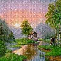 image encre couleur texture effet paysage cheval eau edited by me