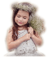 enfant fleur child girl flowers